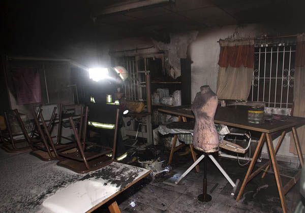 Incendio destruyó un taller del CFP 23 de Centenario