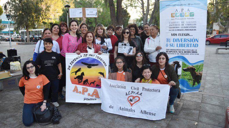 Ayer por la tarde el grupo pidió el fin del maltrato a los animales.