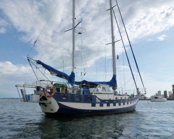 El velero de los barilochenses desaparecidos.