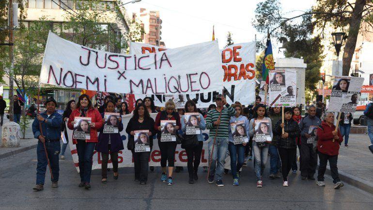 Marcharon para pedir justicia por Noemí Maliqueo