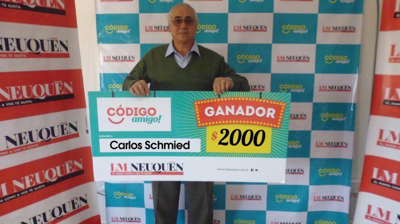 Carlos se quedó con el premio mayor del Código Amigo