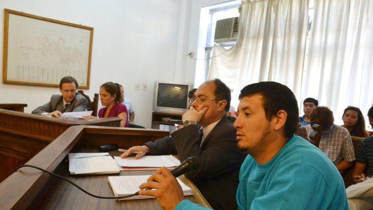 Aldo Guzmán durante el juicio