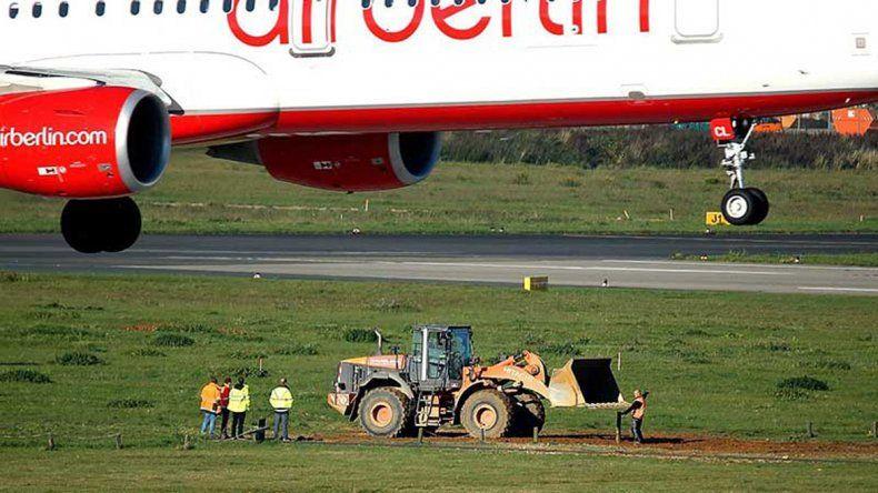 El artefacto fue hallado en el aeropuerto de Düsseldorf.