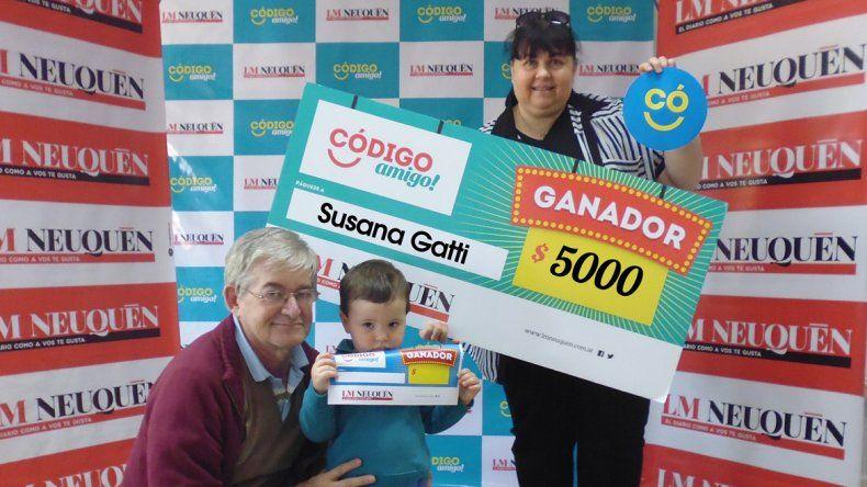 Susana tuvo el pálpito y se quedó con el premio mayor