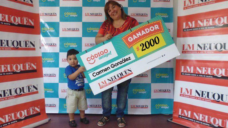 Se quedó  con el premio gracias a ¡Boquita campeón!
