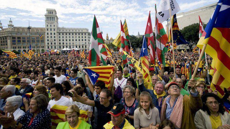Marcha por la independencia de Cataluña.