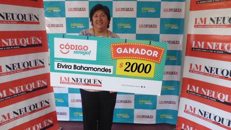 Elvira ganó 2 mil pesos.