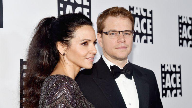 Matt Damon y la argentina Luciana Barroso llevan diez años de casados.