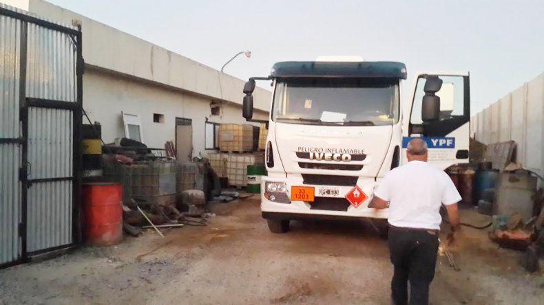 El camión de la empresa neuquina estaba dentro del lugar