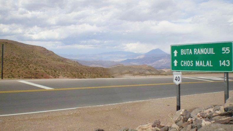 El accidente ocurrió sobre la Ruta 40