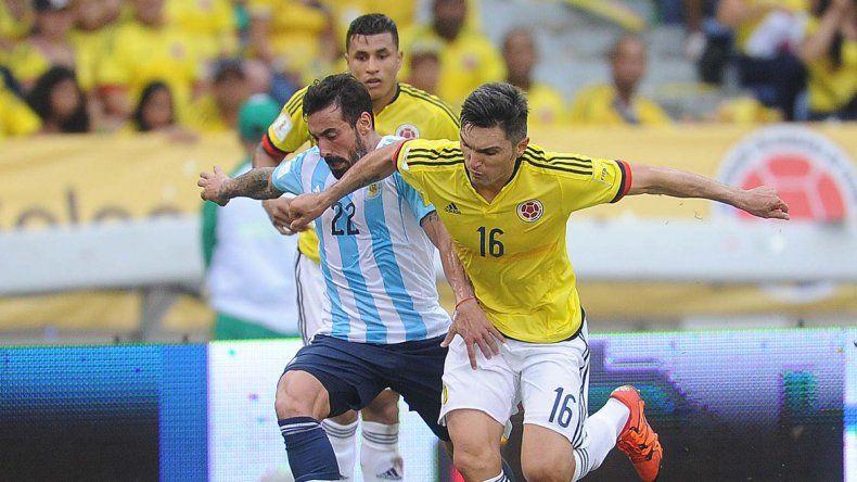 El Pocho Lavezzi fue reemplazado por Enzo Pérez en el segundo tiempo.