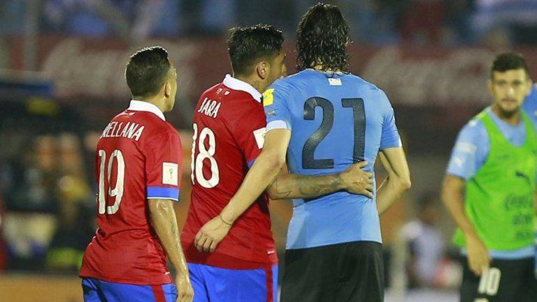 ¿Qué le dijo Jara a Cavani en el partido por las Eliminatorias?