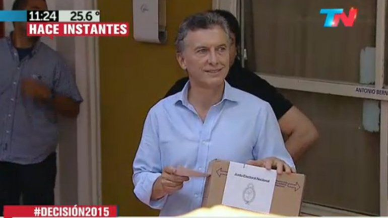 Mauricio Macri: Pase lo que pase que mañana estemos todos juntos