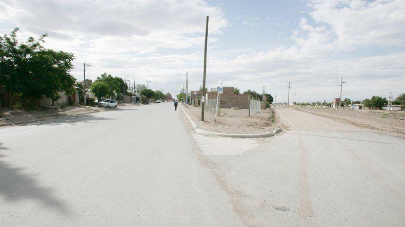 El ataque fue en las calles Cuba y Lago Traful.