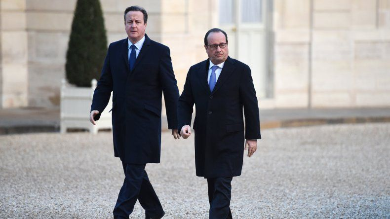 David Cameron y François Hollande