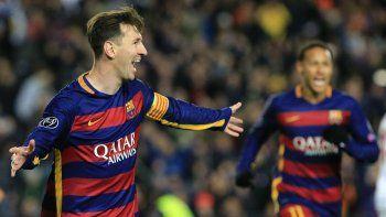 Leo Messi metió dos goles.