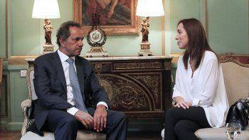 Scioli y Vidal se reunieron hoy.
