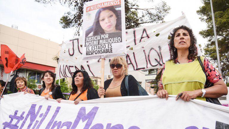 Familiares de Noemí Maliqueo se manifestaron.