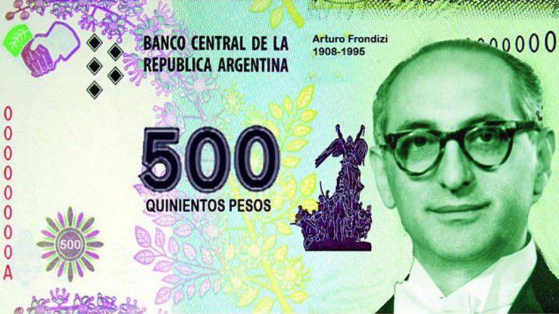 Militantes del PRO habían propuesto la emisión de un billete de 500 pesos con la imagen de Arturo Frondizi.