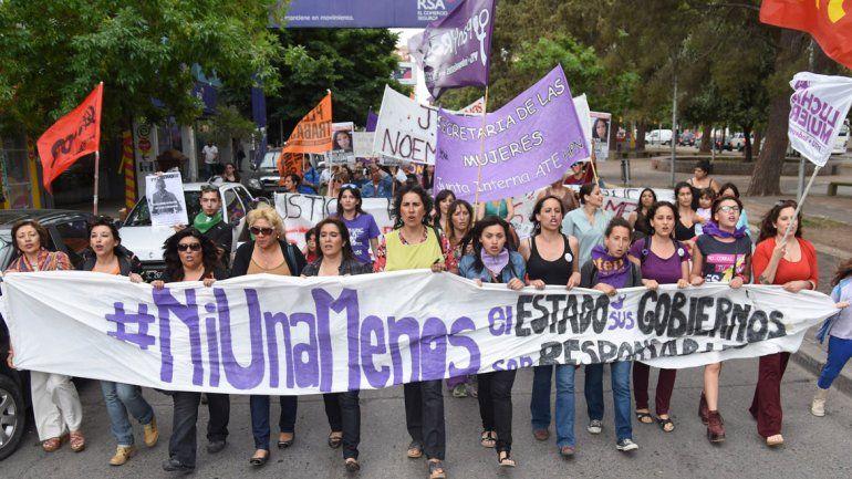 Miles de personas marcharon por las calles de la ciudad.