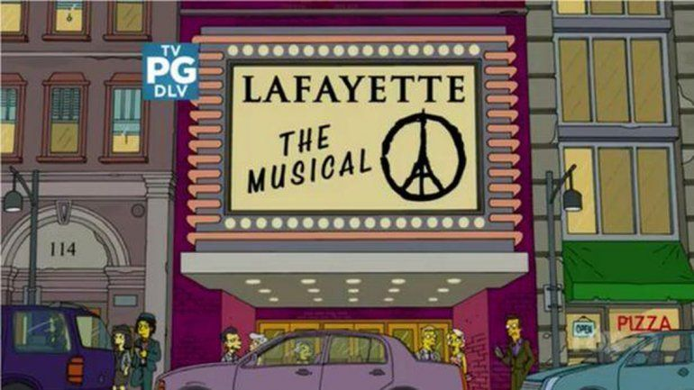 Los Simpsons homenajearon a las víctimas de los atentados en París