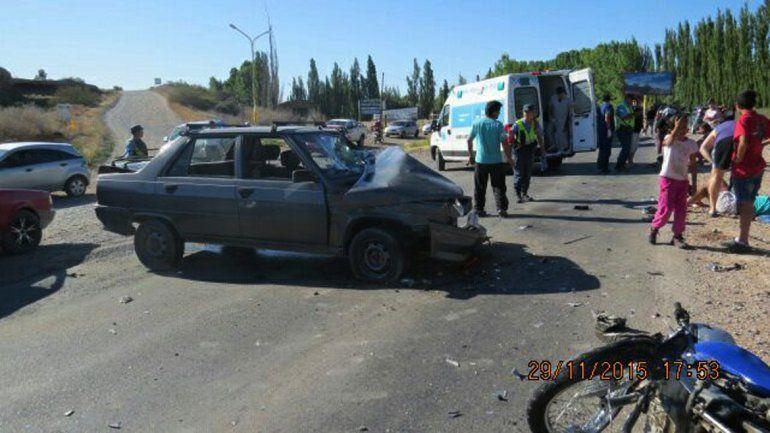 El accidente ocurrió en la Ruta 7
