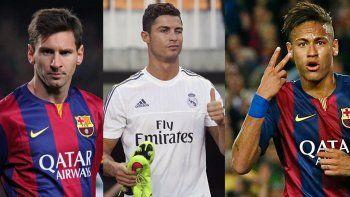 Messi, Ronaldo y Neymar son los tres candidatos al Balón de Oro 2015.
