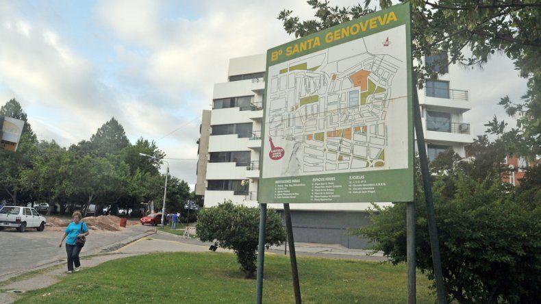 El barrio Santa Genoveva es uno de los más coquetos de la ciudad y cuenta con alarma comunitaria. A pesar de ello