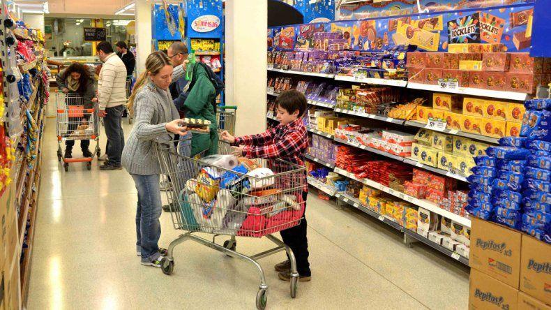 Aumento en supermercados.