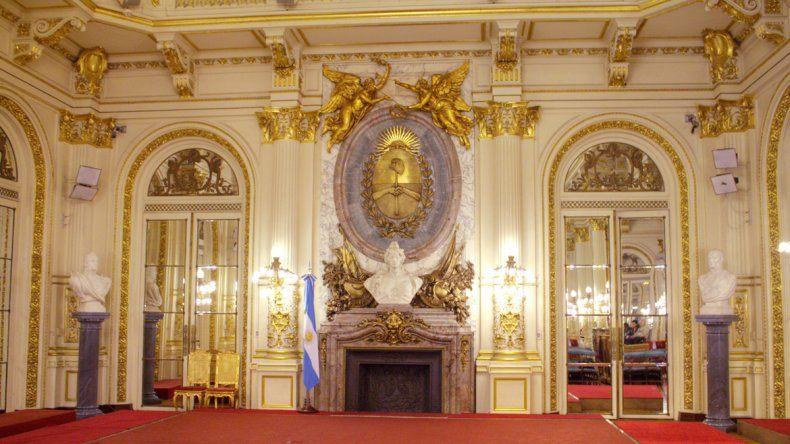 El Salón Blanco de la Casa Rosada