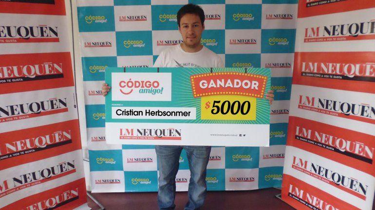 Cristian aprovechará el premio mayor para sus vacaciones