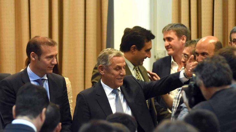 El gobernador Omar Gutiérrez estuvo presente en la jura de Pechi Quiroga.