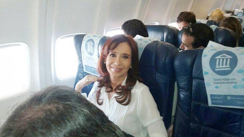 Cristina se fue a Santa Cruz