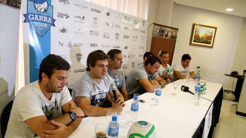 Parte del equipo de Los Pumas