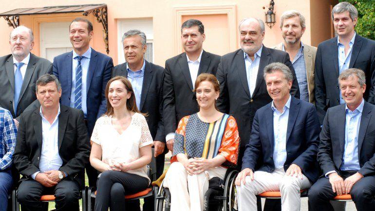 Gutiérrez participó del encuentro de los gobernadores con el presidente Macri.