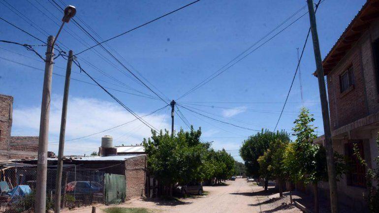 Alto Godoy es el barrio afectado por el robo de cables.