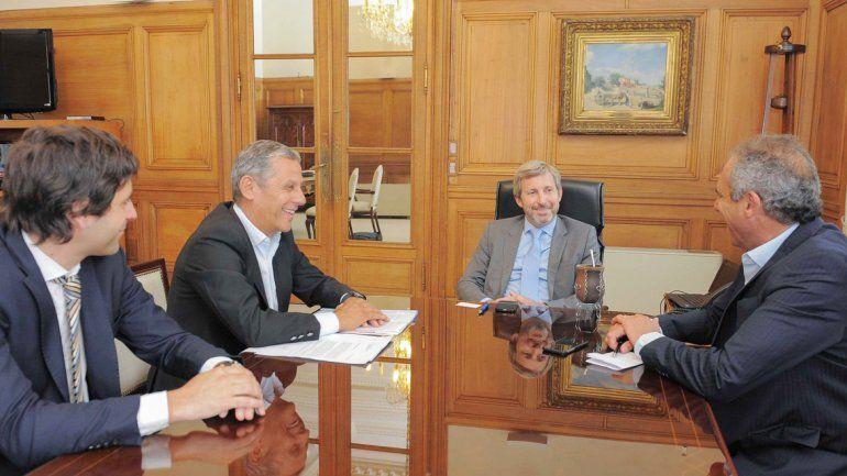 El intendente de Neuquén con el ministro del Interior