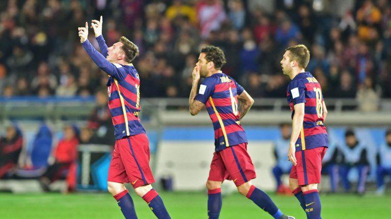 Messi jugó y marcó un tanto.