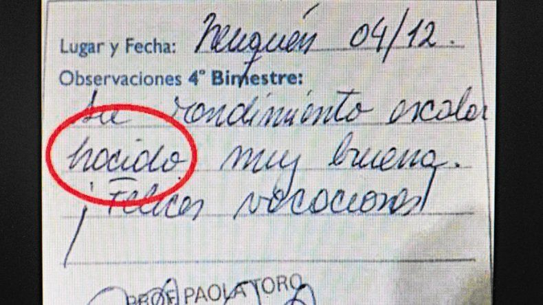 La profesora y directora admitió su error. La escuela denunciará a la madre que lo difundió por las redes sociales.
