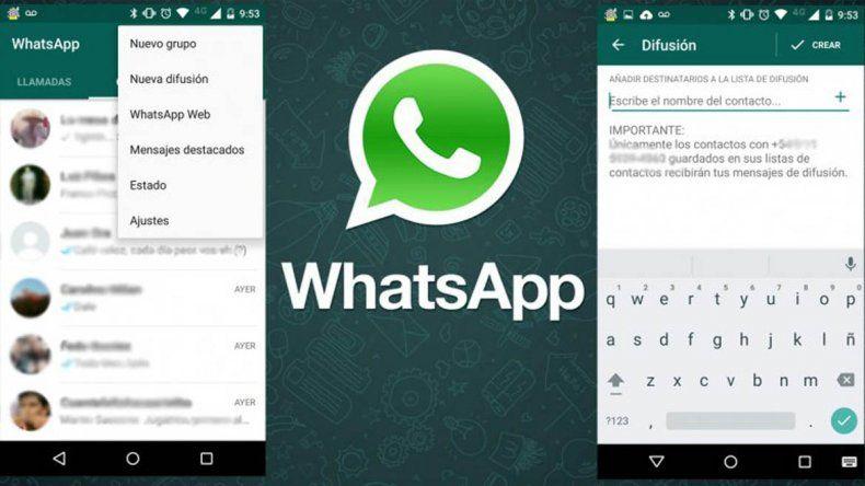Cómo enviar un saludo a varios contactos a la vez desde WhatsApp