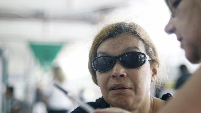 Una usuaria del servicio delestado de San Pablo.
