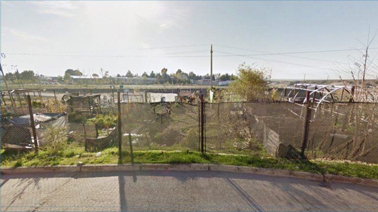 La huerta comunitaria municipal donde incautaron las plantas de marihuana.