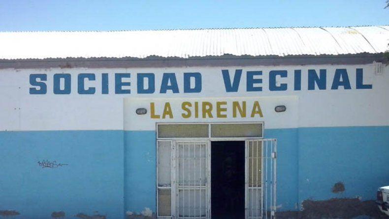 La sede vecinal del barrio La Sirena donde concurren cientos de chicos.