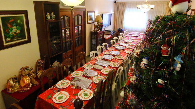 ¿Dónde armamos la mesa para la cena de fin de año?