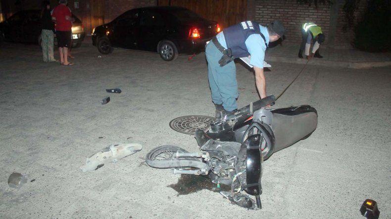 El accidente ocurrió en calles Mariano Moreno y Berta Espinos.