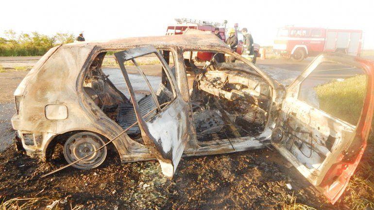 El estado en el que quedaron los vehículos que colisionaron en la Ruta 18