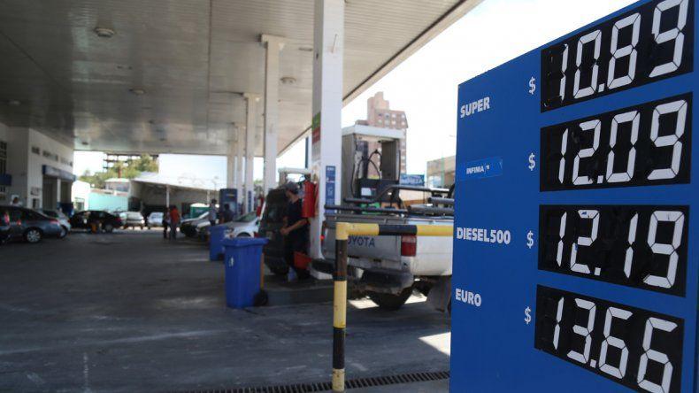 Precios de los combustibles al 6 de enero de 2015.