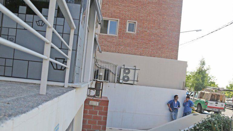 El patio externo del edificio donde cayó el joven estudiante de 28 años.