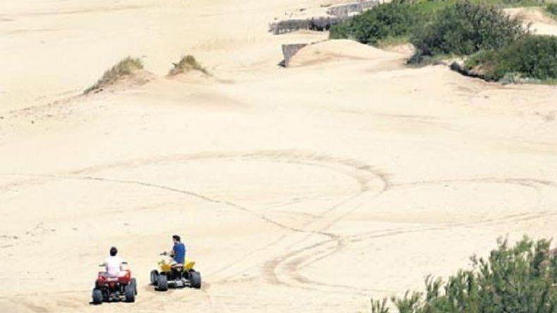 El cuatri con el que se mató el nene en las dunas de Cariló.