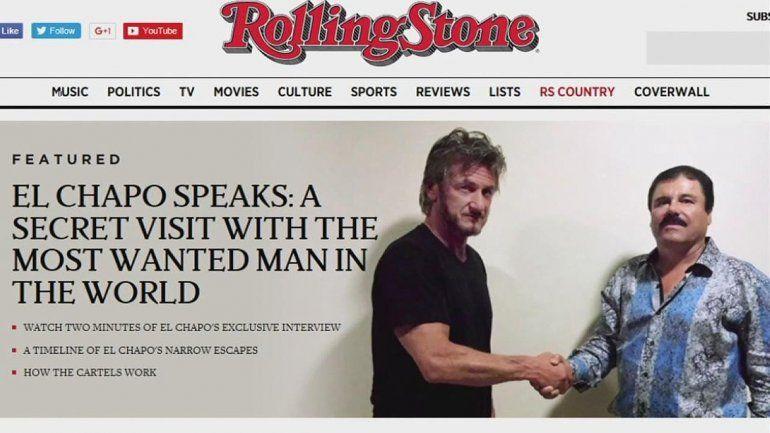 La imagen de Penn dándole la mano al jefe narco en la tapa de la revista